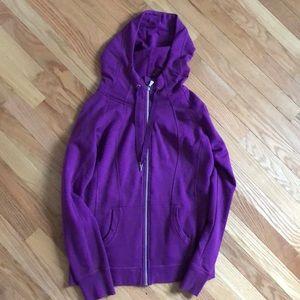 Champion purple zip up hoodie